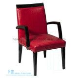 Armrest (DW-2112C)が付いている椅子を食事する現代様式の純木
