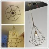 De moderne Lamp van de Tegenhanger van het Brons van het Hotel Decoratieve Acryl