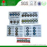 6 cartes d'indicateur d'humidité d'emballage sous vide d'endroits