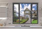 Het Dubbele Openslaand raam van het Glas van het Aluminium van de goede Kwaliteit met Australische Certfication