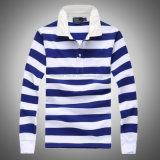 Polo a strisce Shirt con Long Sleeve