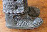 Створка Cardy первоначально Knit Uge серого классицистическая высокорослая над ботинками ботинок