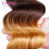 Cabelo peruano de Ombre do Weave do cabelo humano da forma
