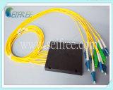 1*9 Faser-Optikteiler des Plastikkasten-CATV FTTH (CATV Teiler)