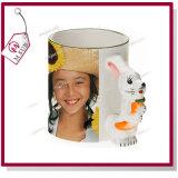 El conejo lindo diseña la taza de cerámica 3D para la sublimación de Mejorsub