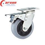 100mm örtlich festgelegte Hochleistungsfußrolle mit leitendem Rad