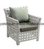 Верхнее качество продавая сплетенную алюминием напольную установленную софу мебели сада (YT616)