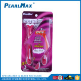 Dreifache Schaufel-Rasiermesser-Rosa-Farbe für Frauen