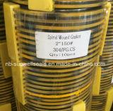 ガスケット304graphite Spiral Wound Gaskets (sunwell)