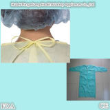 Pp. mit PET Coated Plastic Waterproof Disposable Gown