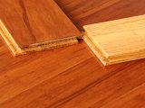 Plancher en bambou tissé par brin de teck