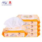 Fábrica profissional por atacado feita Wipes molhados orgânicos de 100%/Wipes do bebê