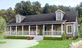 Casa prefabricada del edificio clásico simple del chalet con bajo costo