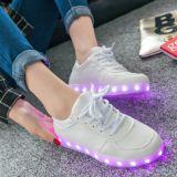 Zapatos planos al por mayor de la luz de la zapatilla de deporte del LED
