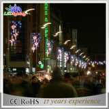 옥외 휴일 크리스마스 거리 LED 훈장 주제 빛