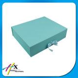 Faltbarer kundenspezifischer Papierverpackenkasten mit Farbband-Schliessen