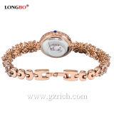 Relógio de pulso de quartzo das mulheres do relógio de Longbo