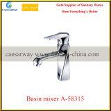 Grifo de agua sanitario del lavabo del cuarto de baño del cromo de las mercancías
