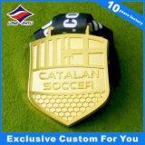 Le métal de médaille du football folâtre des médailles avec le logo de bande et de propriétaire