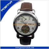 Heet verkoop het Echte Horloge van het Horloge van het Leer Unisex- Automatische