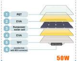50W 18V панель солнечных батарей Sunpower гибкую с высокой эффективностью