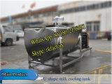 2000litros tanque de resfriamento de leite horizontal (refrigerador de leite em forma de U)