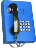 Установленный стеной общественный телефон ГЛОТОЧКА телефона VoIP непредвиденный телефона телефона Knzd-27 напольный