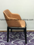 Presidenza di salotto di cuoio dell'unità di elaborazione di alta qualità con i piedini di legno (FOH-BCC35)