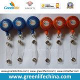 Courroie faite sur commande promotionnelle de vinyle de la bobine W/Clear d'insigne de yo-yo d'identification