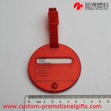 Etiqueta de encargo del equipaje de la venta al por mayor de la etiqueta conocida del PVC del recorrido