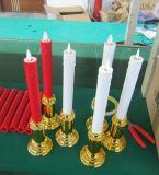 LEIDENE Zonder vlammen van de Kerk van de Macht van de batterij Kaars met Tijdopnemer