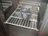 Aço inoxidável sob o congelador contrário do refrigerador