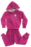 Hiver Fleece Kids Girl Sports Wear Suit dans Children 's Clothes Swg-135