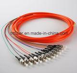 Tipo rotondo treccia di fibra ottica Sc/LC/FC/St
