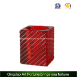 Glass costolato Votive Candle Holder per Home Decor
