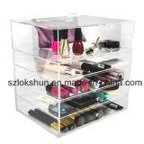 Organiseur de maquillage acrylique avec tiroirs, écran acrylique transparent