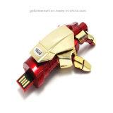 低価格の鉄の人手の形USBのフラッシュディスク