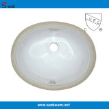 を使ってCupcの証明の浴室の陶磁器の下の反対の洗浄流し(SN001)