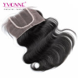 Chiusura superiore tre parti del corpo dei capelli umani di chiusura ondulata del merletto