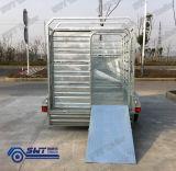 9X5 de gegalvaniseerde Aanhangwagen Achter elkaar van de Kooi van de Doos voor Veewagen (swt-CCT95)