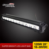 "Convex Lens CREE 20 ""120W Car LED Light Bar Offroad"