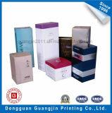 Kunstdruckpapier-Pappkosmetischer verpackenkasten mit UVbeschichtung