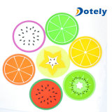 Parts colorées de fruit de couvre-tapis d'assiette de supports de bac de caboteurs de silicones