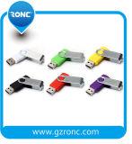 Personalizado de promoción giratoria USB Flash Driver 64 GB con su logotipo