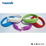 Alta velocidade do bracelete do disco do USB do PVC com garantia