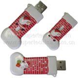Ботинок рождества сформировал привод вспышки USB подарка (S1A-2191C)