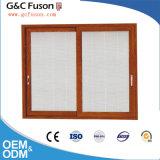 Ventana de cristal de aluminio horizontal de desplazamiento del marco de la ventana de desplazamiento