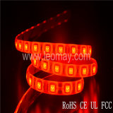 Luz de tira flexible del kit de interior LED de la luz 5050 LED del color rojo