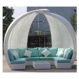 Mobília ao ar livre de vime do jardim para o jogo do sofá do Rattan do pátio
