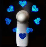 Blu Programmable Message Fan LED con logo stampato (3509)